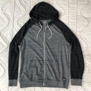 Old Navy Men's Gray Full Zip Hoodie Size XL